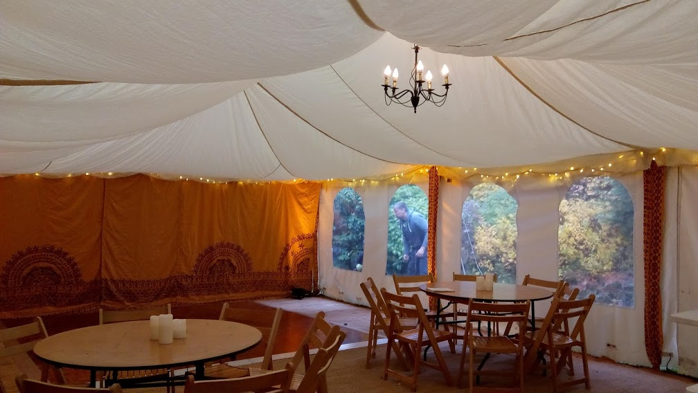 Saffron and Flat Ivory lining 20x30ft Modular tent,
