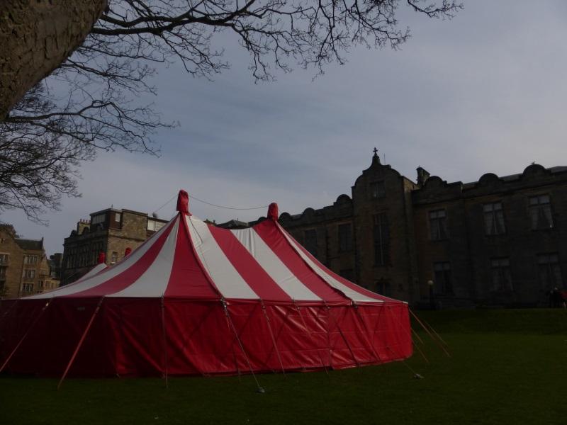 40x55ft Circus tent, St Andrews Uni