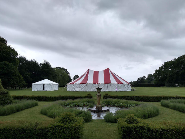 40x60ft Circus tent, white walls, 20x20ft Modular frame tent