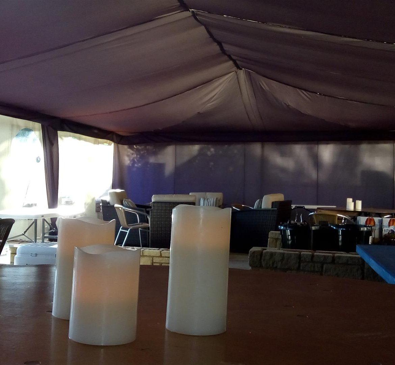 Deep Purple lining, 20x40ft Modular frame tent