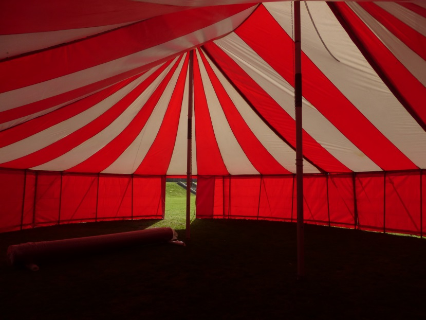 Circus tent interior at St Andrews