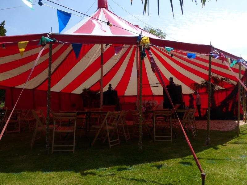 circus tent interior