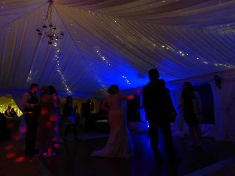 Yorkshire wedding fairy lights