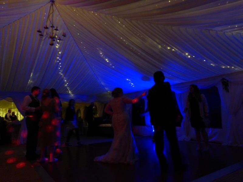 Yorkshire wedding fairy lights
